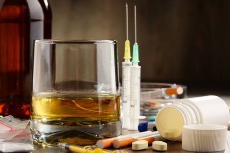psychotropic medication: Variety of addictive substances, including alcohol, cigarettes and drugs