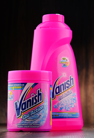 vanish: POZNAN, POLAND - JAN 19, 2017: Vanish is a brand of stain removing products owned by Reckitt Benckiser, sold in Australia, India, S. Africa and much of Europe (in the US as the Resolve brand name)
