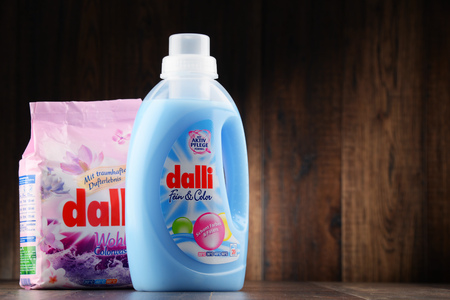 rankings: POZNAN, POLAND - JAN 19, 2017: Dalli Group belongs to the worlds top rankings in high quality washing detergents, soaps, cleansers and hair- and bodycare products