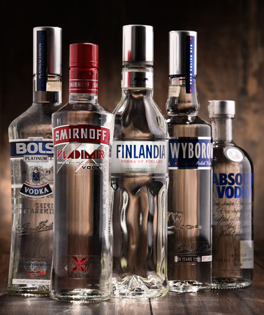 POZNAN, POLAND - MAY 31, 2017: Vodka is the world�s largest internationally traded spirit with the estimated sale of about 500 million nine-liter cases a year. Editorial