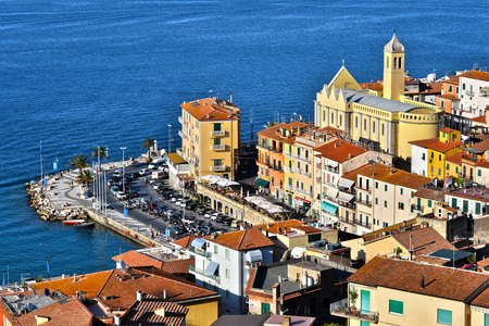 City of Porto Santo Stefano in the Province of Grosseto, Tuscany, Italy