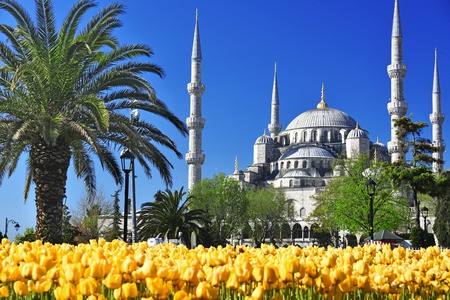 sunni: Sultan Ahmed Mosque or Blue Mosque in Istanbul, Turkey