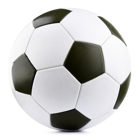 Lederner Fußball lokalisiert auf weißem Hintergrund. Standard-Bild - 88555986