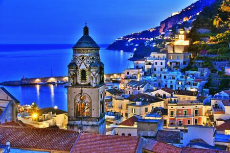 Amalfi in the province of Salerno, Campania, Italy Stock Photo