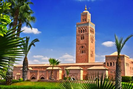 Koutoubia Mosque in the southwest medina quarter of Marrakesh, Morocco 版權商用圖片