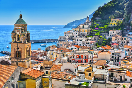 Amalfi in the province of Salerno, Campania, Italy Banco de Imagens