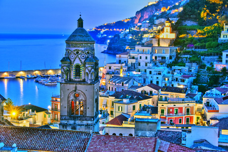 Amalfi in the province of Salerno, Campania, Italy Редакционное