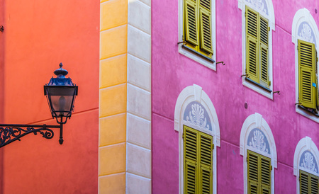 Architecture of Sestri Levante, Liguria, Italy.