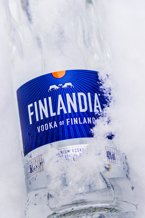 POZNAN, POL - JAN 24, 2019: Bottle of Finlandia, a brand of Finnish vodka owned by the Brown-Forman Corporation and distributed in 135 countries.