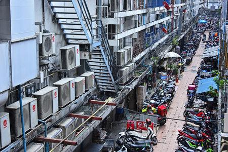 BANGKOK, THAILAND - JAN 26, 2018: View of the street in Bangkok, Thailand
