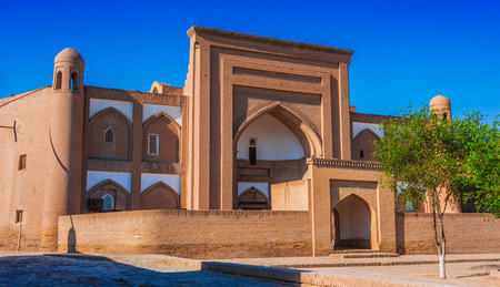 Historic architecture of Itchan Kala, walled inner town of the city of Khiva, Uzbekistan. Stock Photo