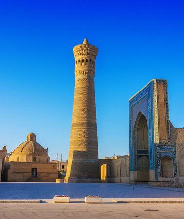 Po-i-Kalan or Poi Kalan, an Islamic religious complex located around the Kalan minaret in Bukhara, Uzbekistan. Фото со стока - 124953813
