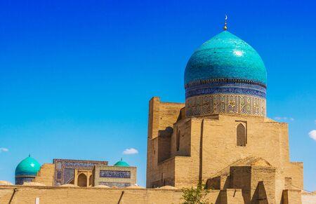 Architecture of Po-i-Kalan or Poi Kalan, an Islamic religious complex located around the Kalan minaret in Bukhara, Uzbekistan. Фото со стока