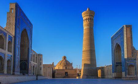 Po-i-Kalan or Poi Kalan, an Islamic religious complex located around the Kalan minaret in Bukhara, Uzbekistan.