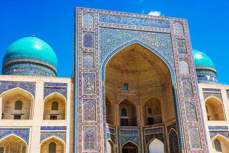 Po-i-Kalan or Poi Kalan, an Islamic religious complex located around the Kalan minaret in Bukhara, Uzbekistan. Фото со стока - 124955291