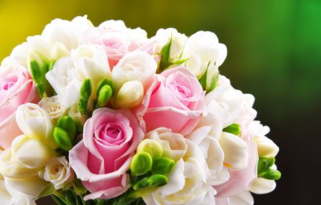Composition with wedding bouquet.