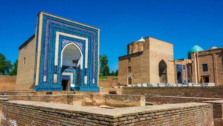Shah-i-Zinda or Shohizinda (The Living King), a necropolis in Samarkand, Uzbekistan. Фото со стока