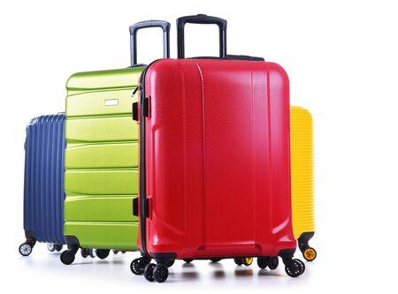 Reisekoffer isoliert auf weißem Hintergrund.