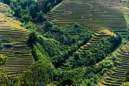 Landscape view of Sapa Valley in Lao Cai Province in northwest Vietnam Reklamní fotografie - 132246792