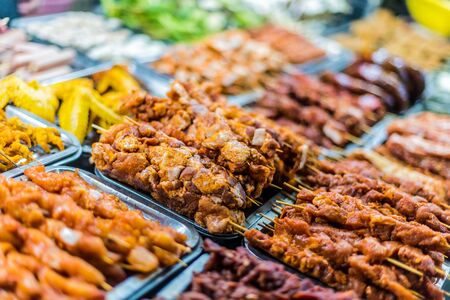 Traditional Vietnamese street food sold in Sapa in Lao Cai Province in northwest Vietnam