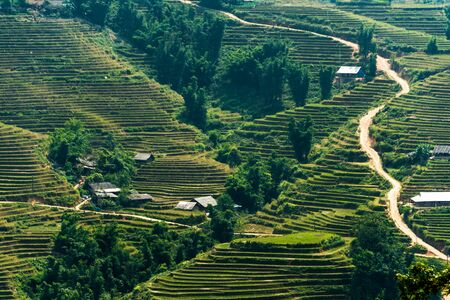 Landscape view of Sapa Valley in Lao Cai Province in northwest Vietnam
