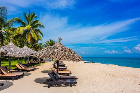 Cua Dai, sandy sea beach near Hoi An in Quang Nam Province, Vietnam