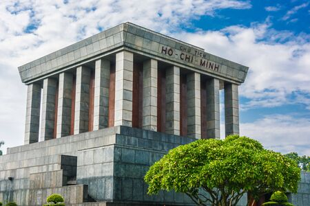 The President Ho Chi Minh Mausoleum in Hanoi, Vietnam