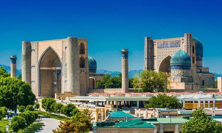 Bibi-Khanym-moskee in Samarkand, Oezbekistan. Stockfoto