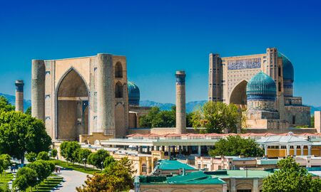 Bibi-Khanym Mosque in Samarkand, Uzbekistan. Stock Photo