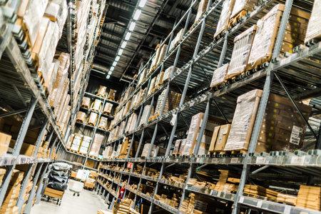 SINGAPORE - MAR 6, 2020: Interior of IKEA warehouse in Singapore