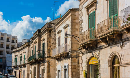 OSTUNI, ITALY - SEP 3, 2020: Architecture of Ostuni in the province of Brindisi, Apulia, Italy