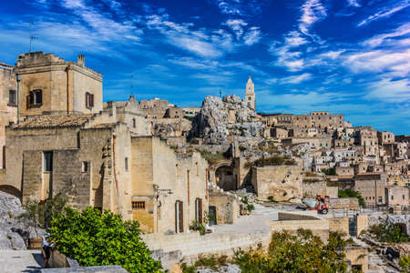 Panoramic view of Matera, Basilicata, Italy.