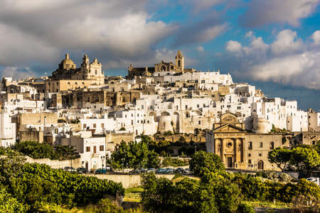 Panoramic view of Ostuni in the province of Brindisi, Apulia, Italy Stockfoto