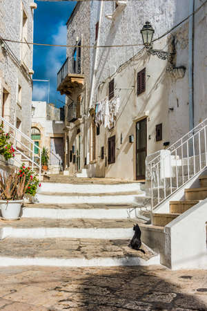 Architecture of Ostuni in the province of Brindisi, Apulia, Italy