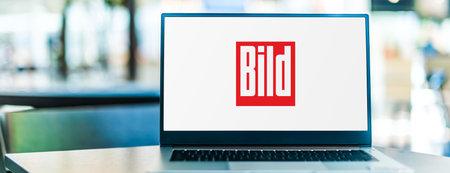 POZNAN, POL - SEP 23, 2020: Laptop computer displaying of Bild or Bild-Zeitung, a German tabloid newspaper published by Axel Springer SE