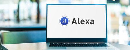 POZNAN, POL - SEP 23, 2020: Laptop computer displaying of Alexa Internet, Inc., a web traffic analysis company based in San Francisco, subsidiary of Amazon