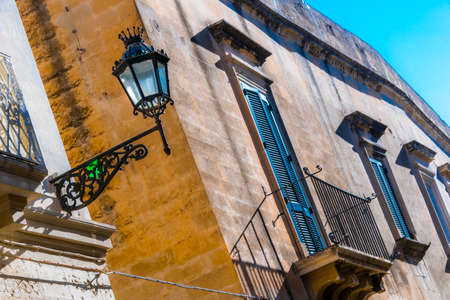 Historic architecture of the city of Lecce, Apulia, Italy