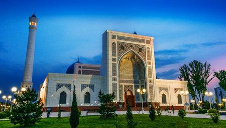 Minor Mosque inTashkent, Uzbekistan after sunset 写真素材