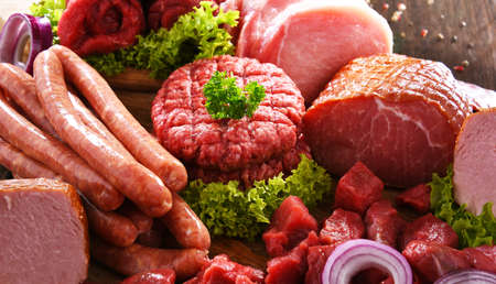 Composition with assorted meat products Standard-Bild