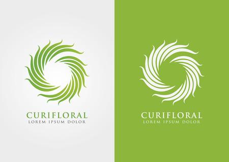 ci: A floral and circular sign