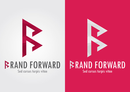 Brand Foward  B letter with a foward symbol to show your movement  Business Success