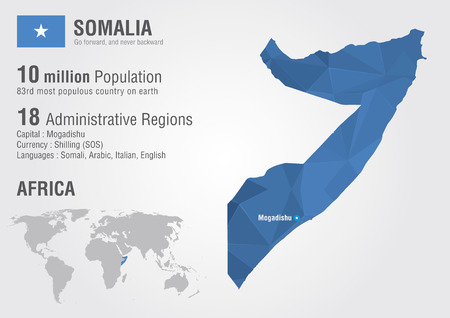 populous: Somalia world map with a pixel diamond texture  World Geography