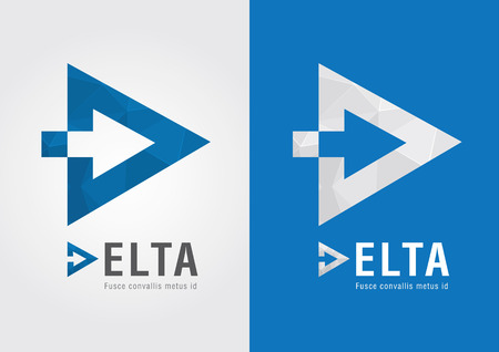 D Delta symbol for your business success  Moving Forward