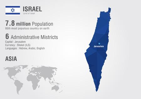 픽셀 다이아몬드, 텍스처, 세계 지리와 이스라엘 세계지도
