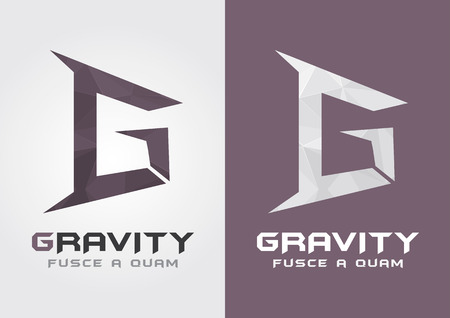 g: G Gravity  Icon from alphabet G  Creative Movement  For your business success