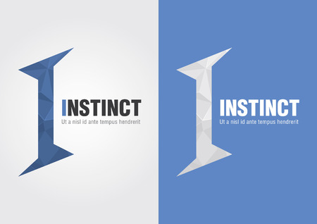 instinct: I Instinct icon from an alphabet  Business creative marketing  For your business success