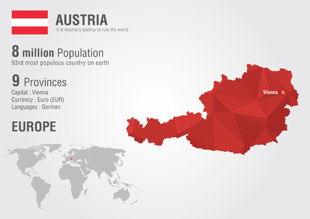 populous: Austria world map with a pixel diamond texture  World geography