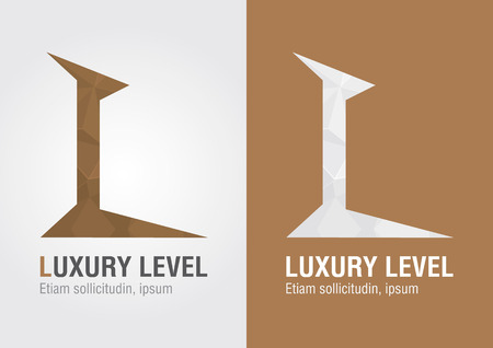 letter l: L Luxury Level icon from an alphabet letter L.Creative marketing. For your business success.