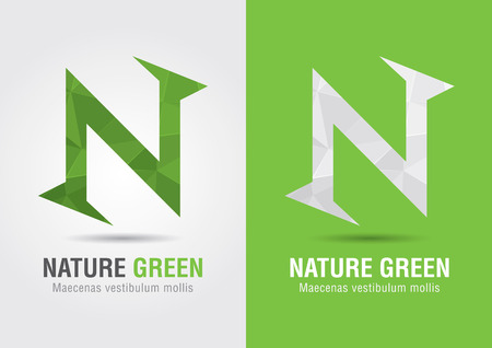 ci: N Nature  An icon from alphabet letter font N  Creative marketing  Business success