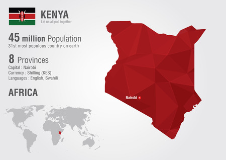 populous: Kenya world map with a pixel diamond texture  World geography